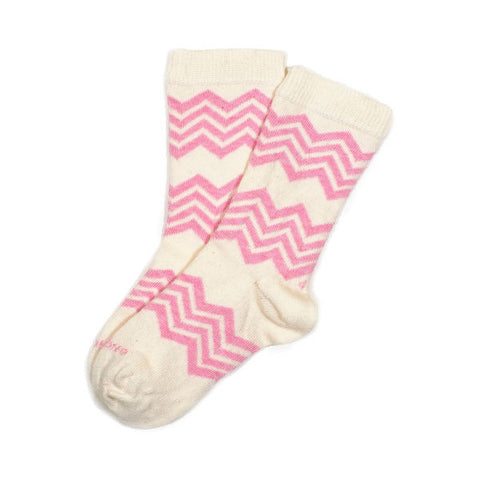 Pink Heather Aspen Stripe Socks