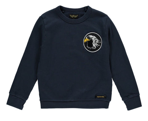 Brian Slate Blue Eagle Sweater