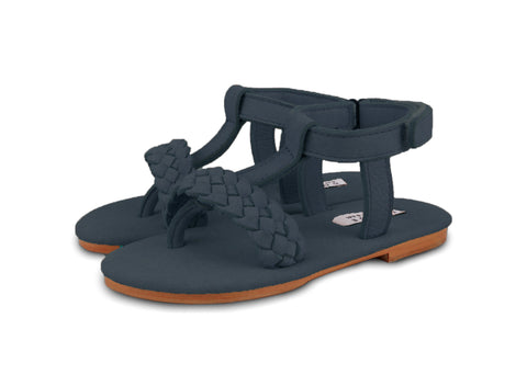 Donsje Navy Erica Braid Sandal | POCO KIDS