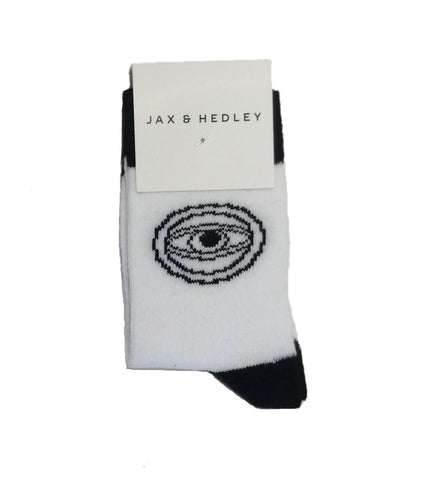 Jax & Hedley White Eye Socks | POCO KIDS