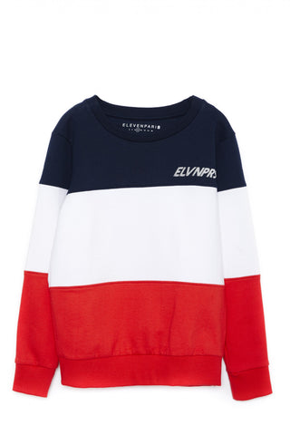 Eleven Paris Red, White and Blue Harans Sweatshirt | POCO KIDS