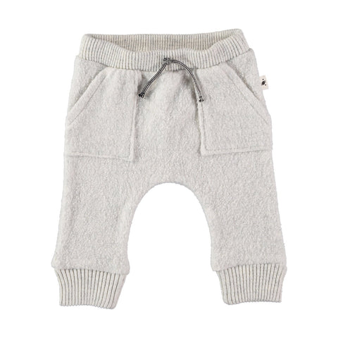 My Little Cozmo Light Grey Donegal Baby Sweatpants | POCO KIDS