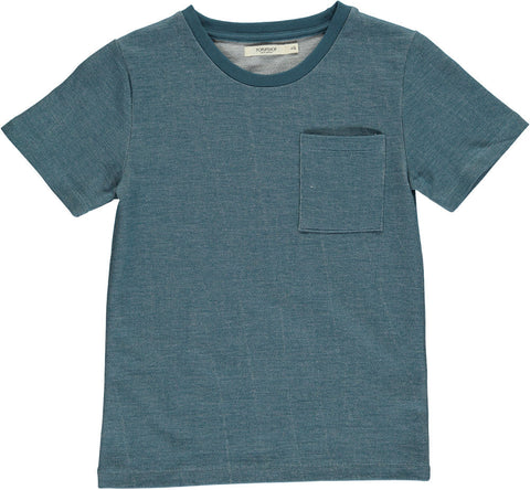 Denim Loose Tee with Pocket