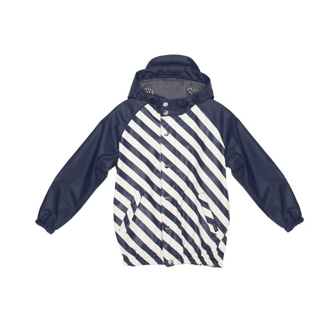 Indigo Striped Magic Donkey Rain Jacket