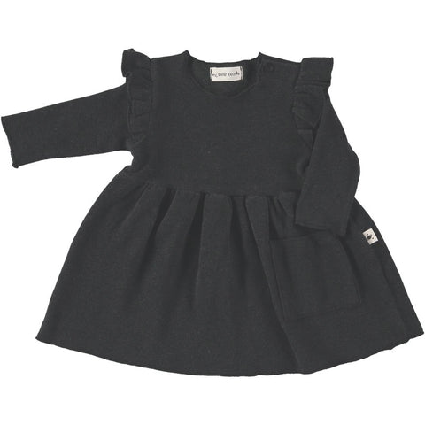 My Little Cozmo Charcoal Grey Limerick Baby Dress | POCO KIDS