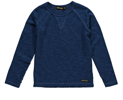 Finger In The Nose Neal Indigo Long Sleeve Top | POCO KIDS