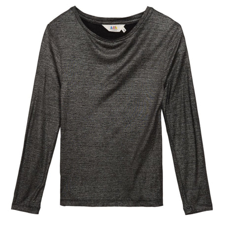 Little Eleven Silver Grey Metallic Rosy Top | POCO KIDS