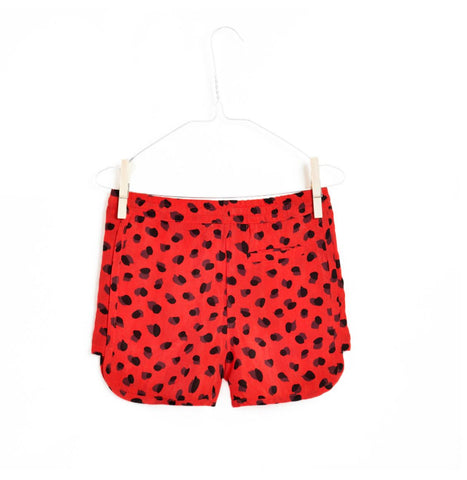 Repose AMS Red and Black Printed Strawberry Sport Shorts | POCO KIDS