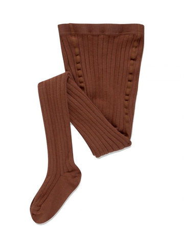 Repose AMS Warm Pecan Ribbed Tights | POCO KIDS