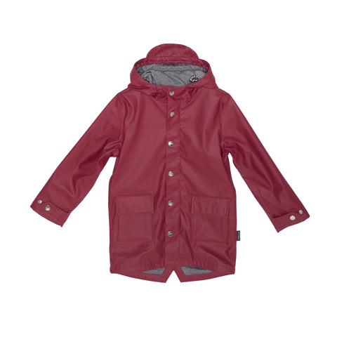 Biking Red Wild Geese Rain Jacket
