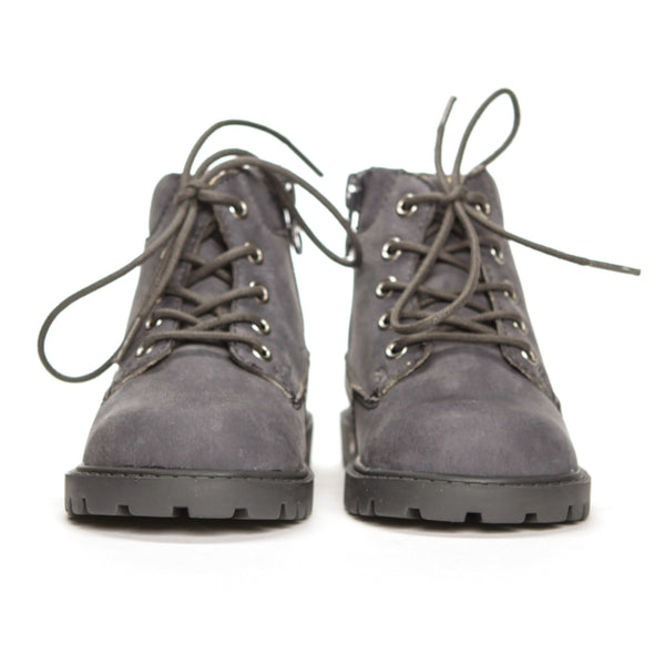 AKID Grey Atticus Boots, front view | POCO KIDS