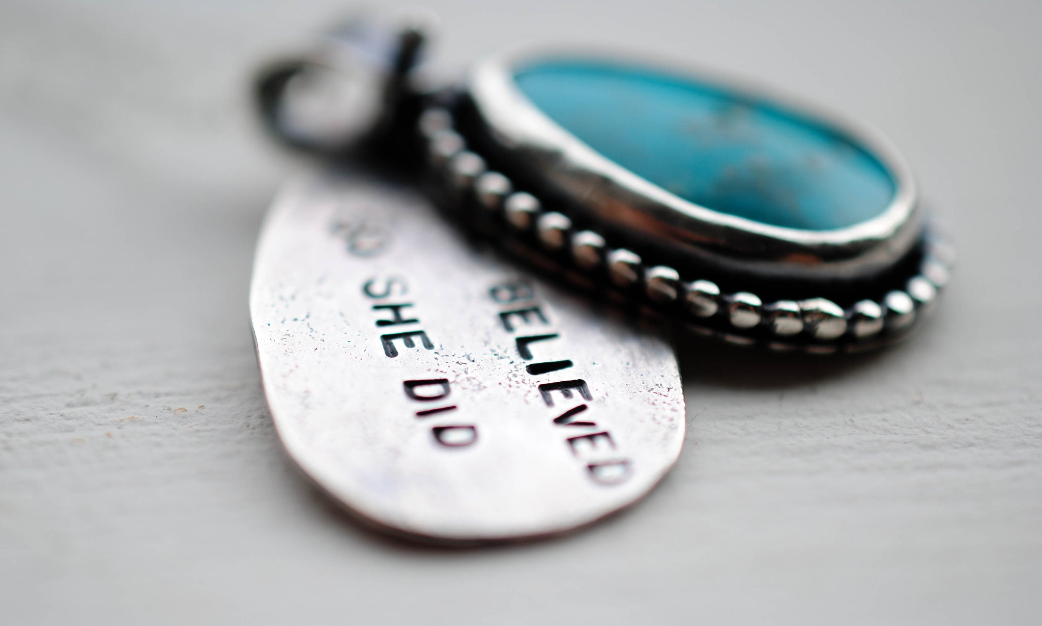 Turquoise Quote Necklaces