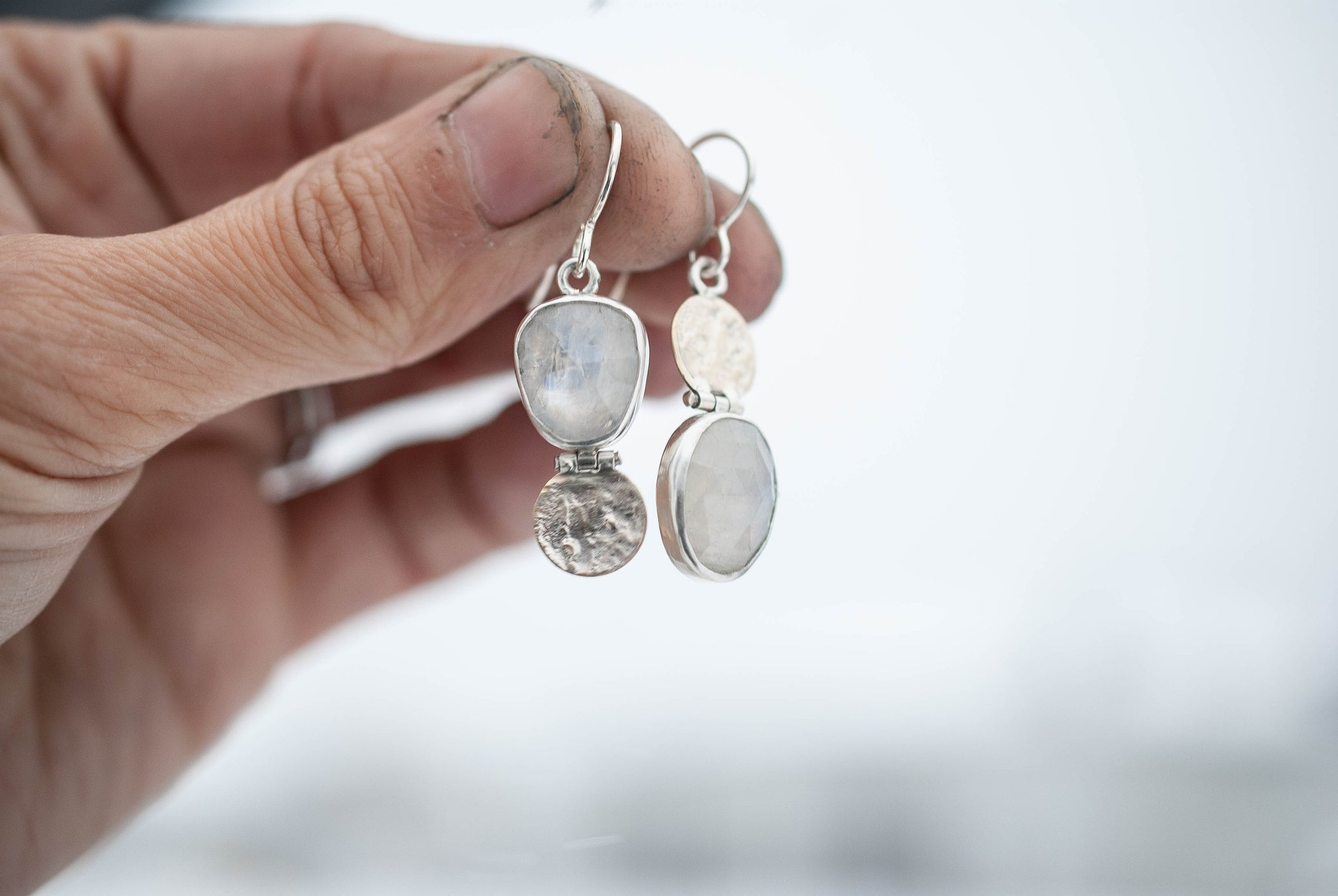 Moonstone Hinge Earrings