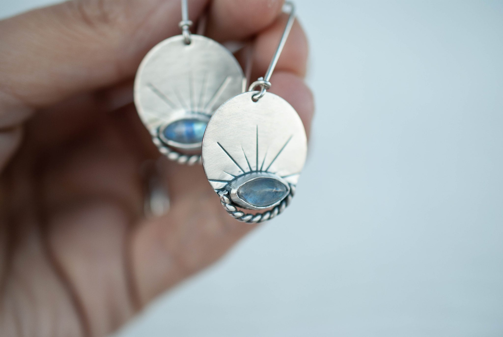 Moonstone Sunbeam Earrings