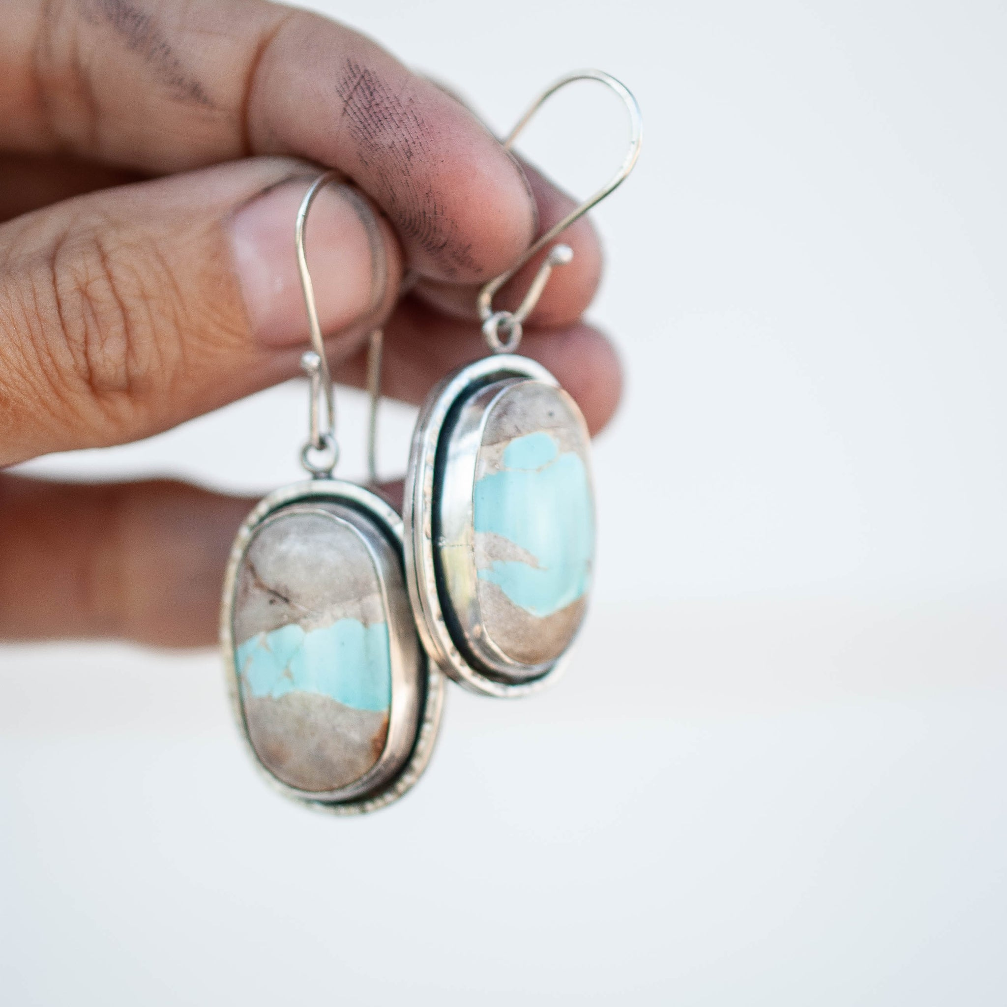 Reversible Royston Ribbon Turquoise Earrings