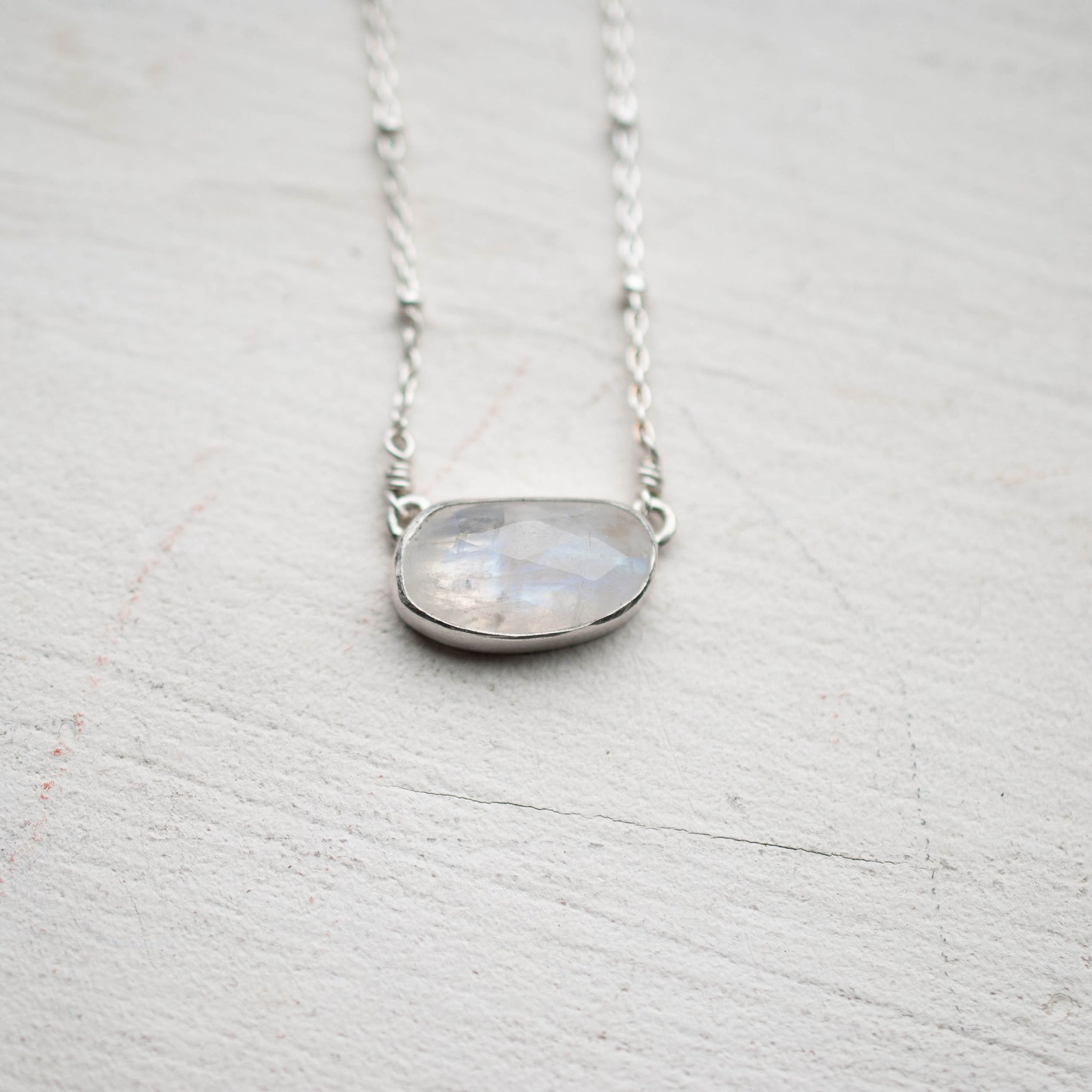 Delicate Moonstone Necklace 5