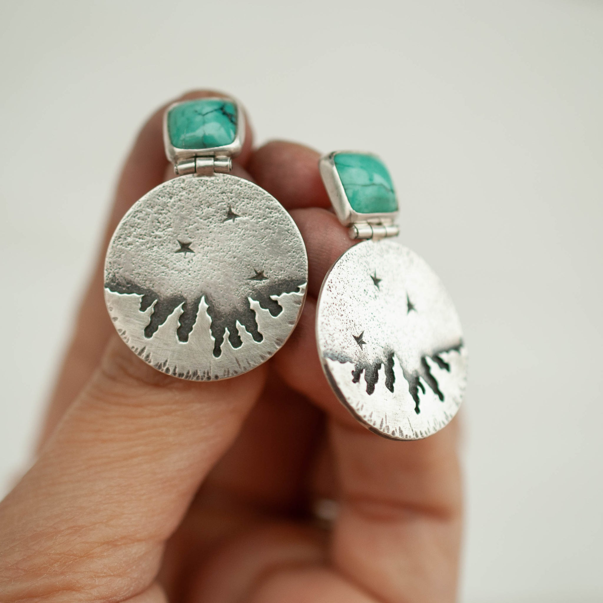 Night Sky Hinge Post Earrings