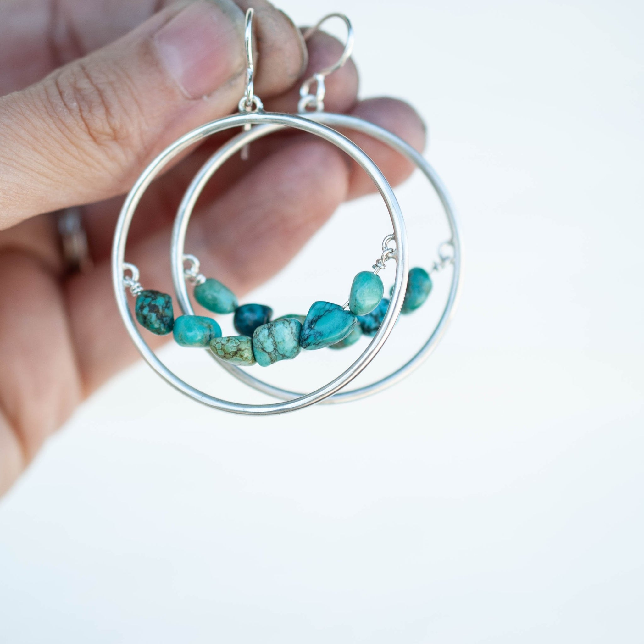 Beaded Hoop Earrings 1
