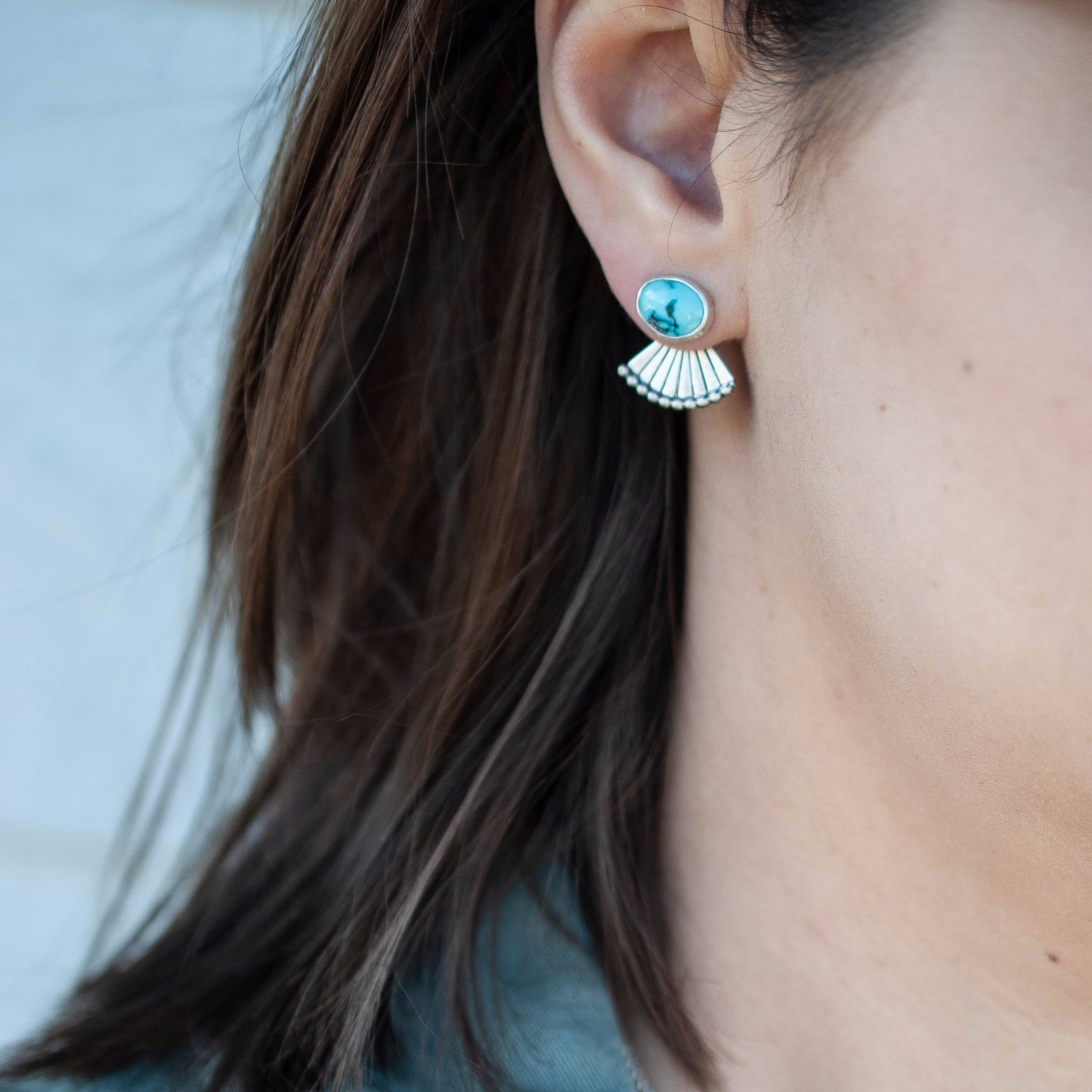 Signature Turquoise Fan Ear Jackets 4