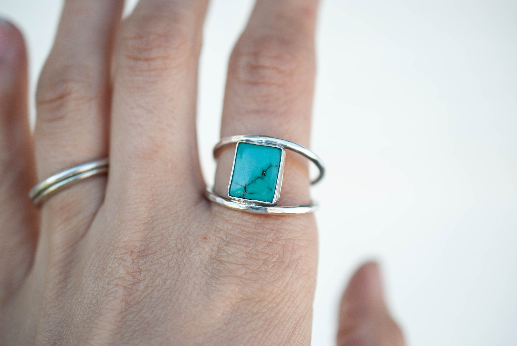 Square Turquoise Ring 1
