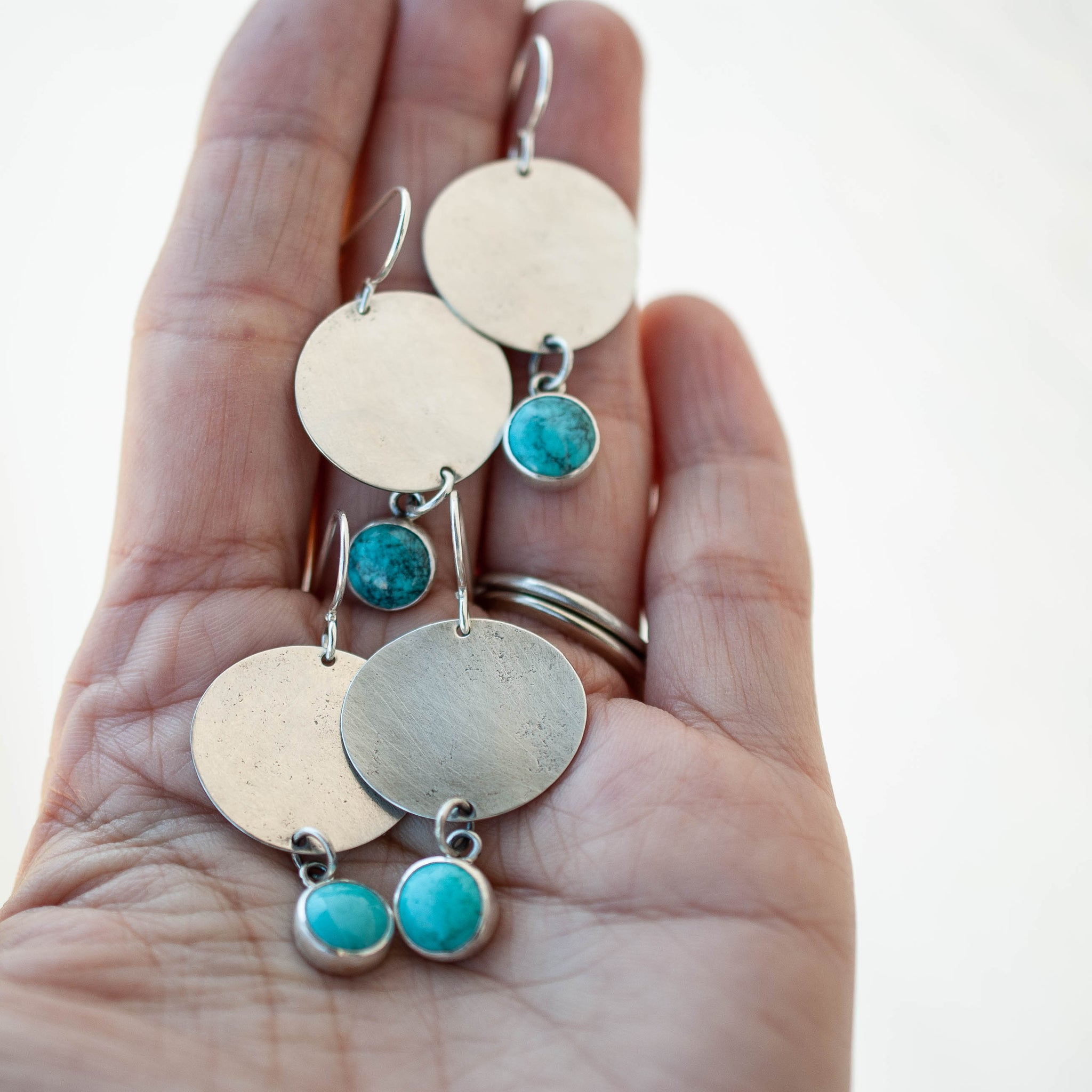Minimalistic Turquoise Drop Earrings 2