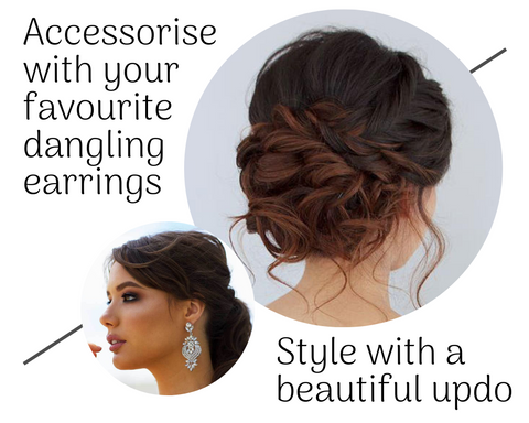 Earrings hairstyle accessory updo jewellery