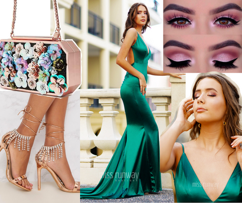 Kendall Gown Emerald Green Dress Formal Styling