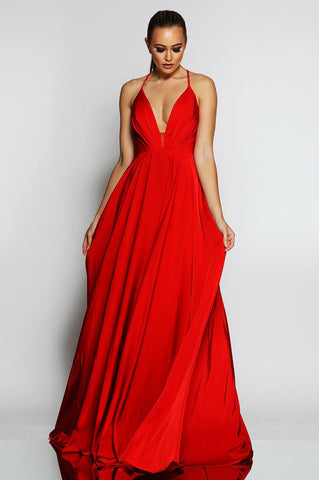 red gown red ball gown formal formal dress prom dress