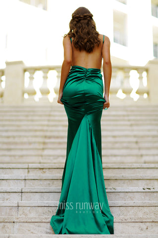 Kendall Gown - Emerald Green