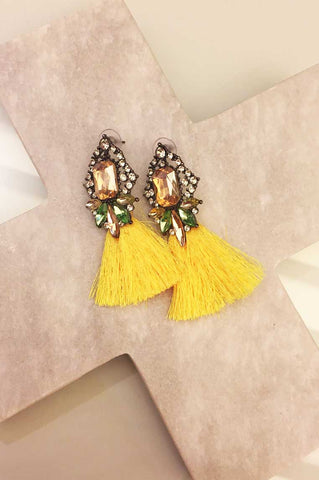 In Vogue Earrings - Yellow