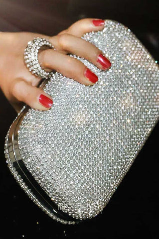 Queen of the night clutch - silver