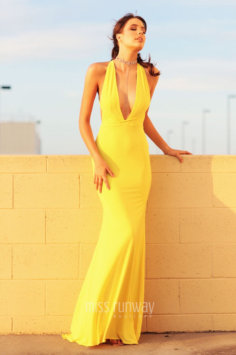 832fa50181d5 Alexis Gown - Yellow - Miss Runway Boutique