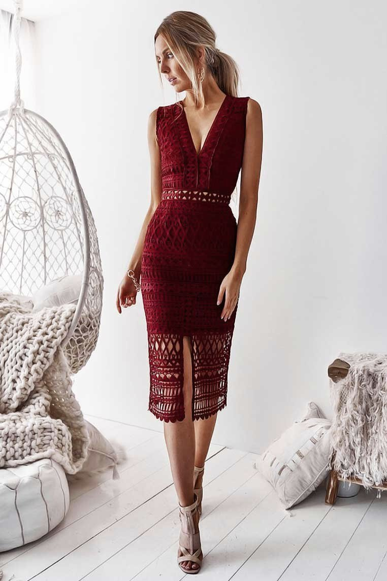a980cc70 Red Lace Sparkly Midi Dresses for Sale in Australia - Miss Runway