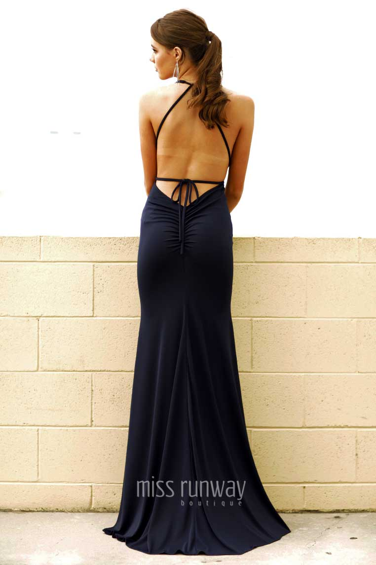 Alexis Gown - Navy - Miss Runway Boutique