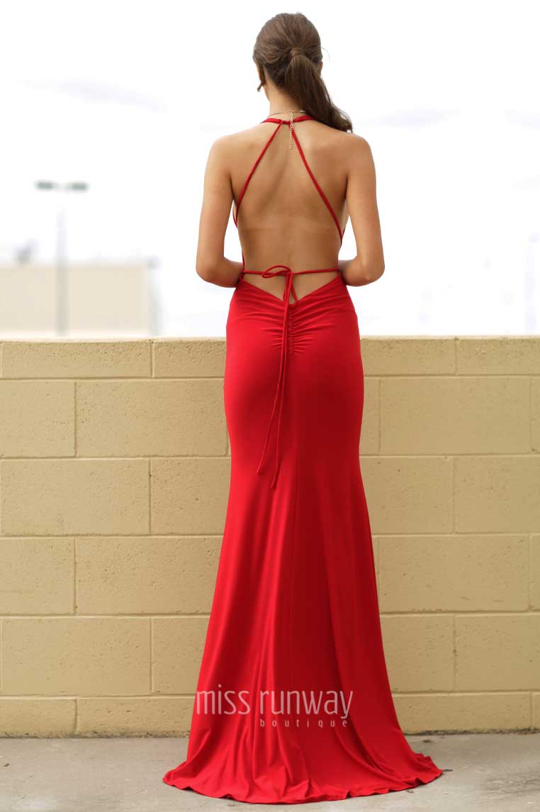 Alexis Gown - Red - Miss Runway Boutique