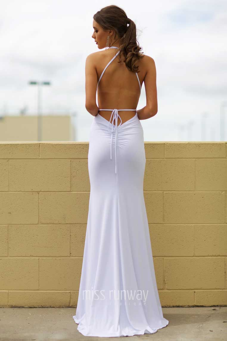 Alexis Gown - White - Miss Runway Boutique