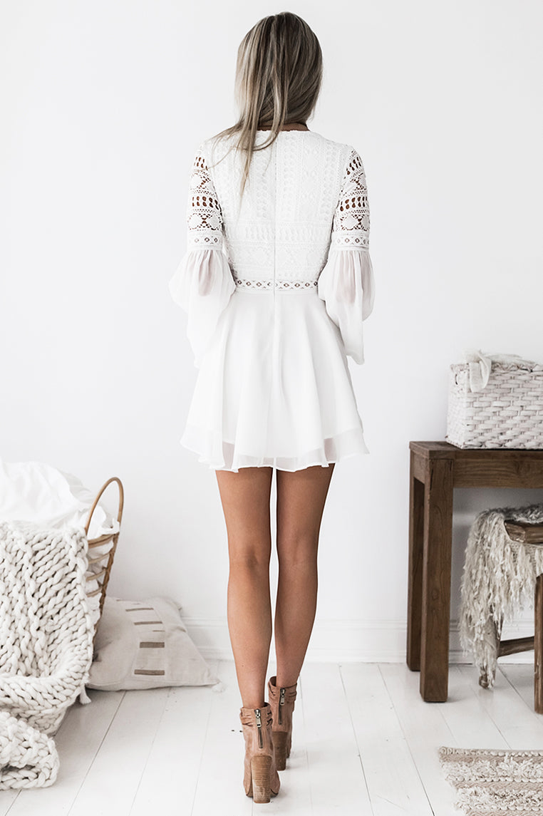Alyse Dress - White - Miss Runway Boutique