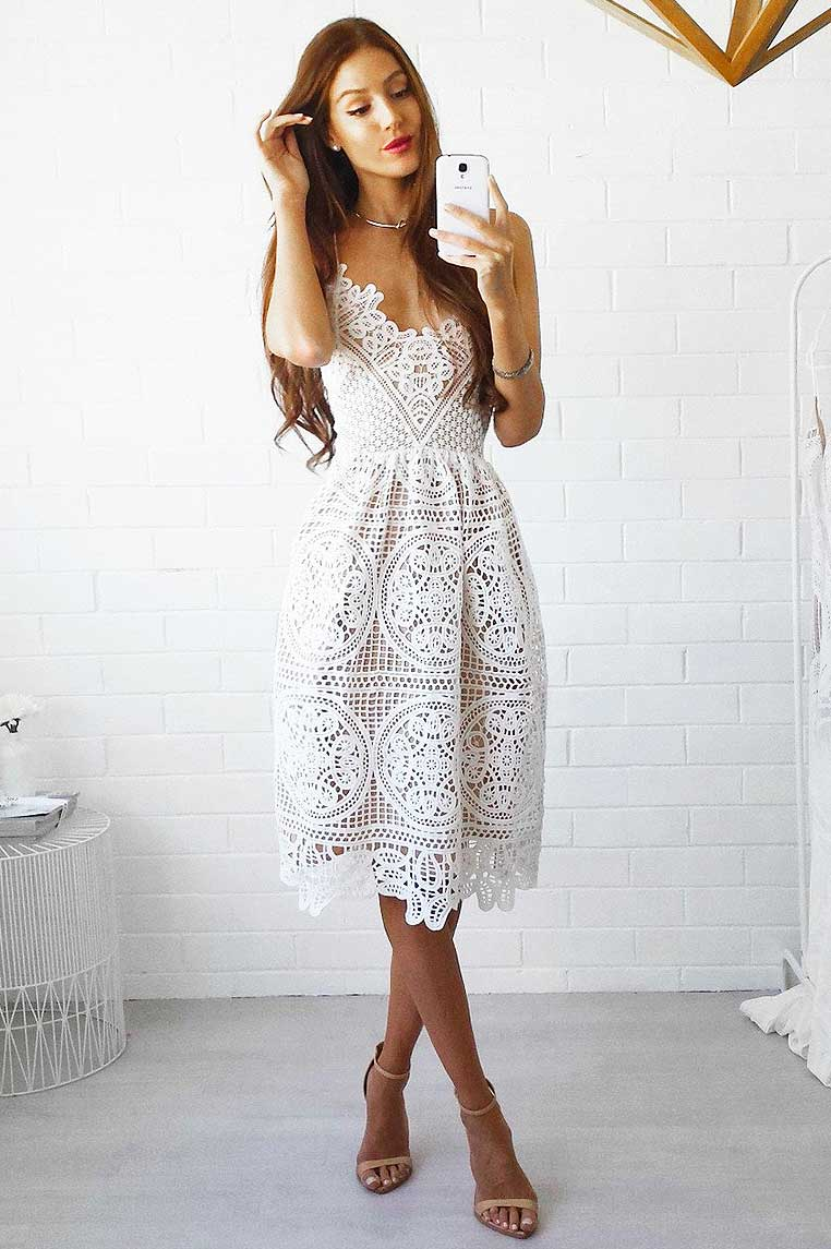 d3ee4ea11be7 Annabelle Lace Dress - White