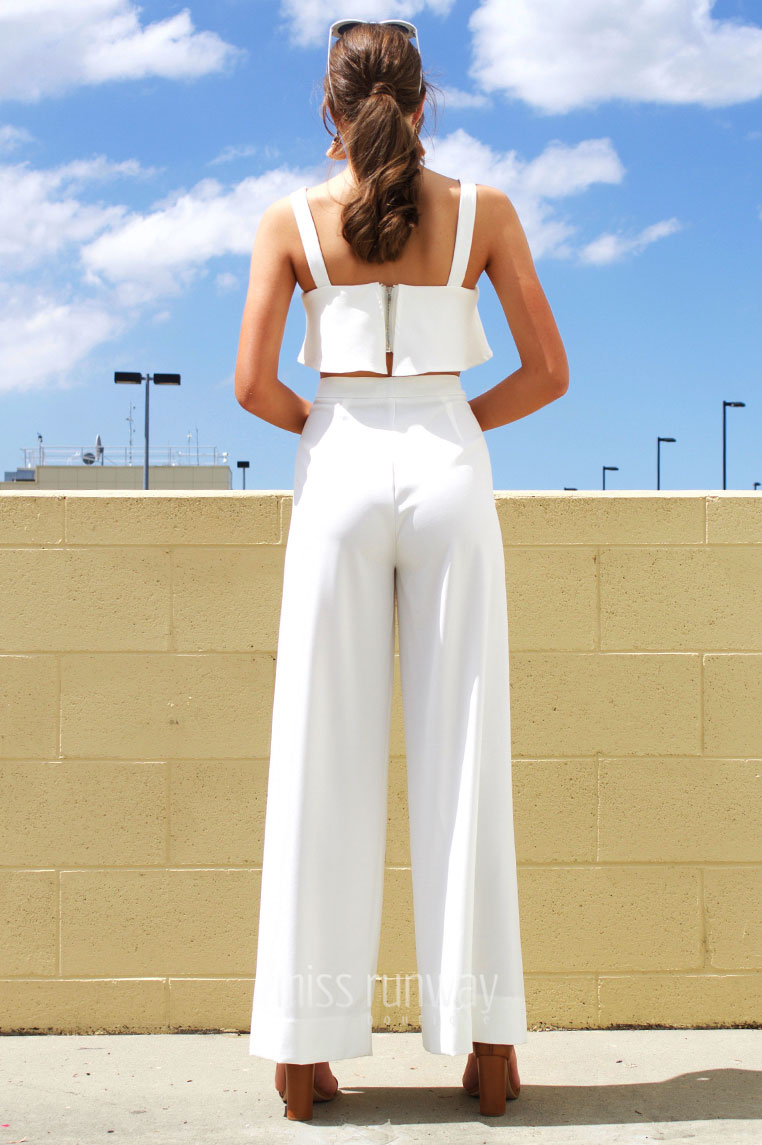 Bahamas Pants - White - Miss Runway Boutique