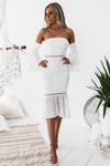 Briana Lace Dress - White - Miss Runway Boutique