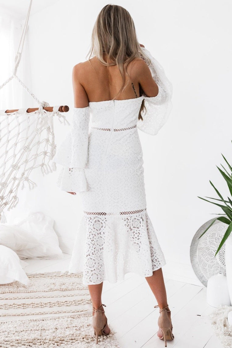 Briana Lace Dress - White