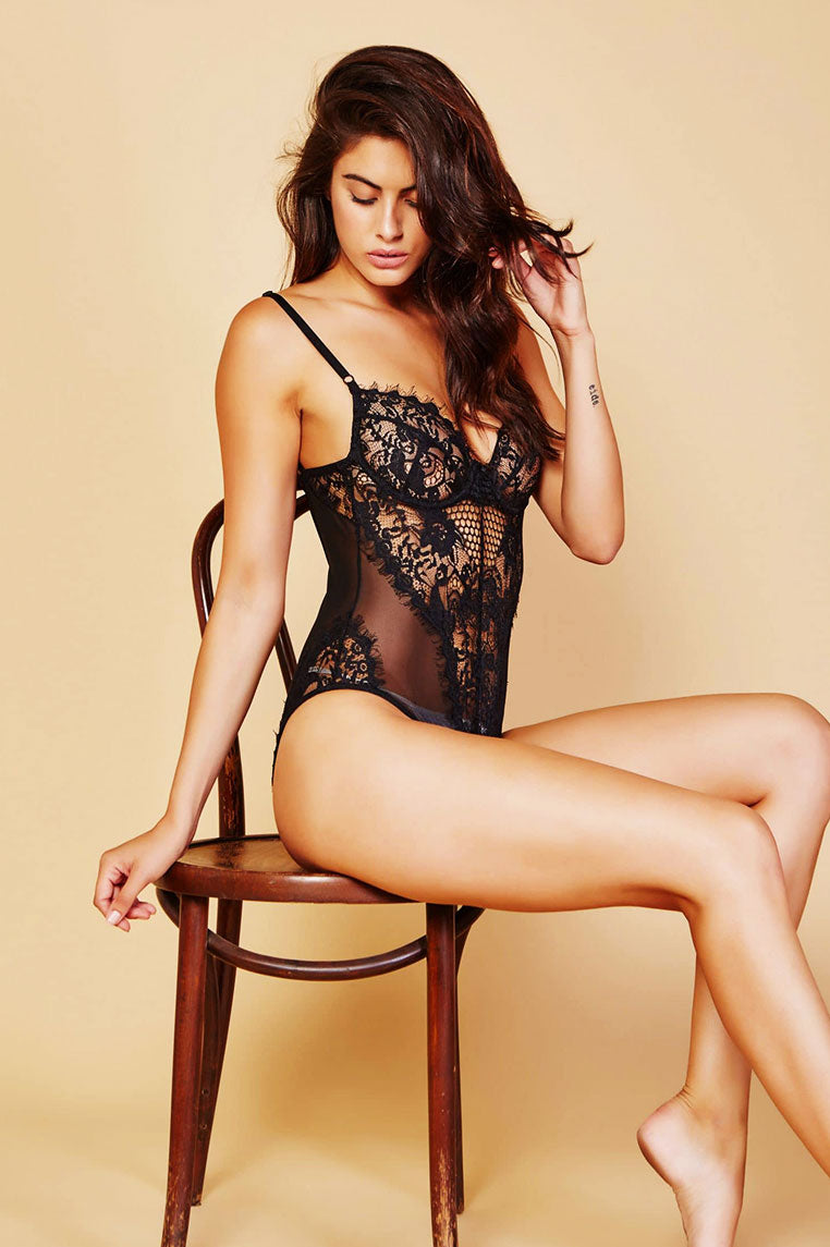 Chloe Lace Bodysuit - Black - Miss Runway Boutique