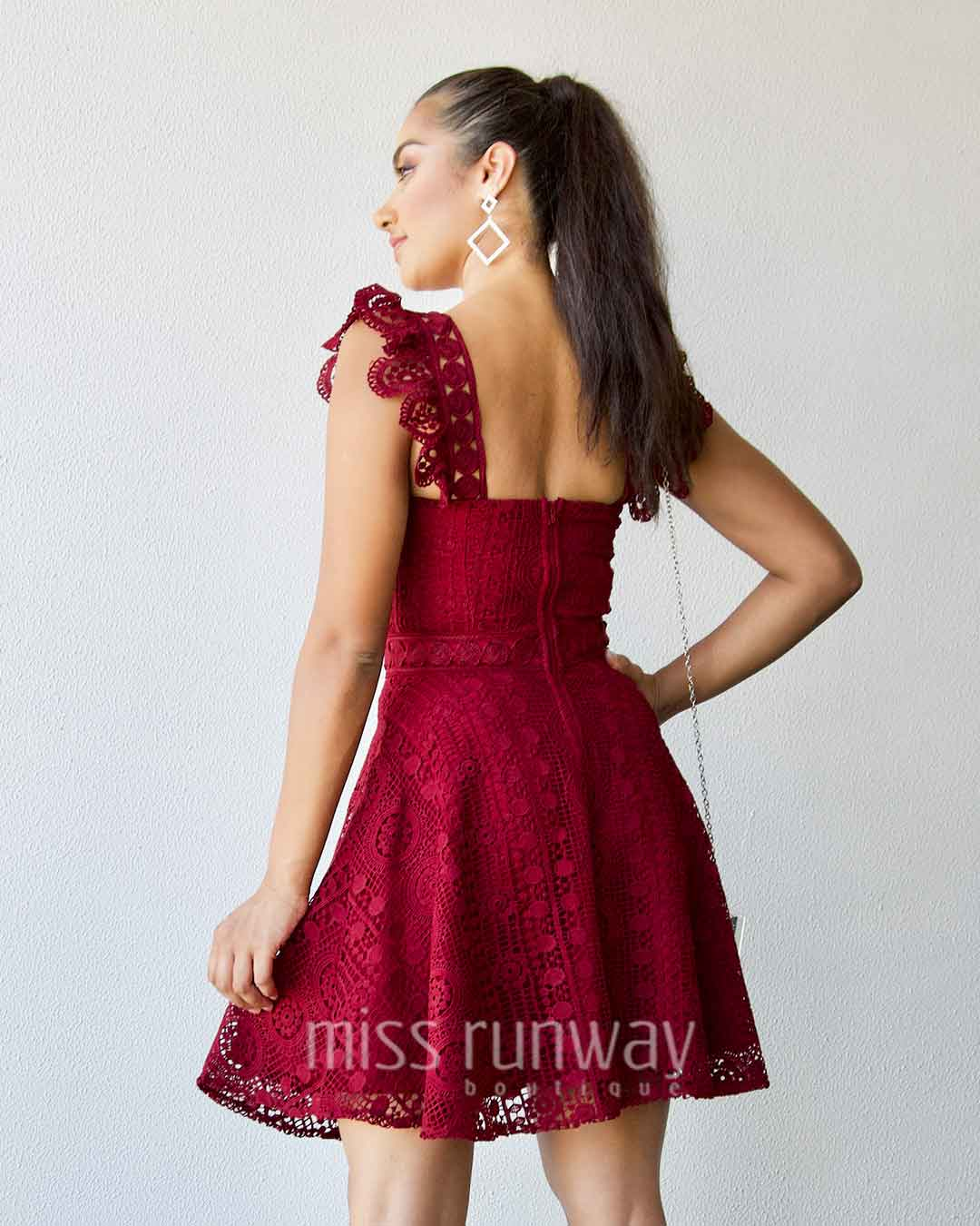 Codie Lace Dress - Red