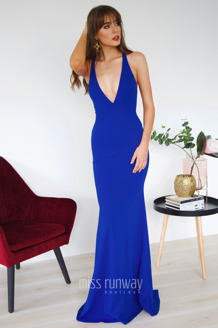 Dana Gown - Cobalt - Miss Runway Boutique