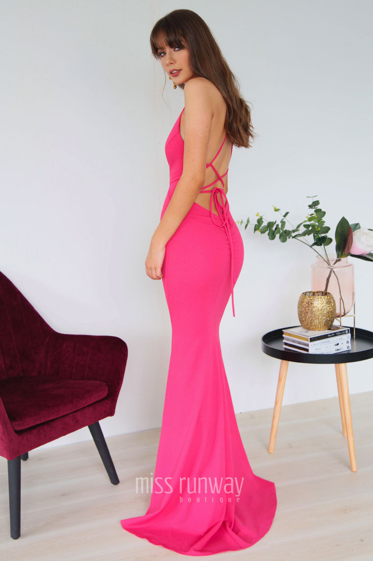 Dana Gown - Hot Pink - Miss Runway Boutique
