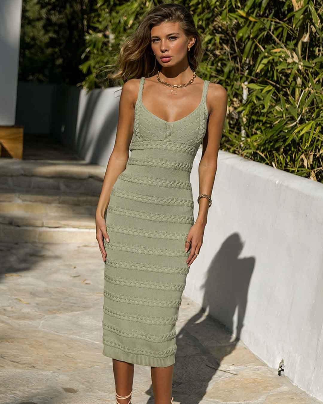 Dukes Knit Midi Dress Sage