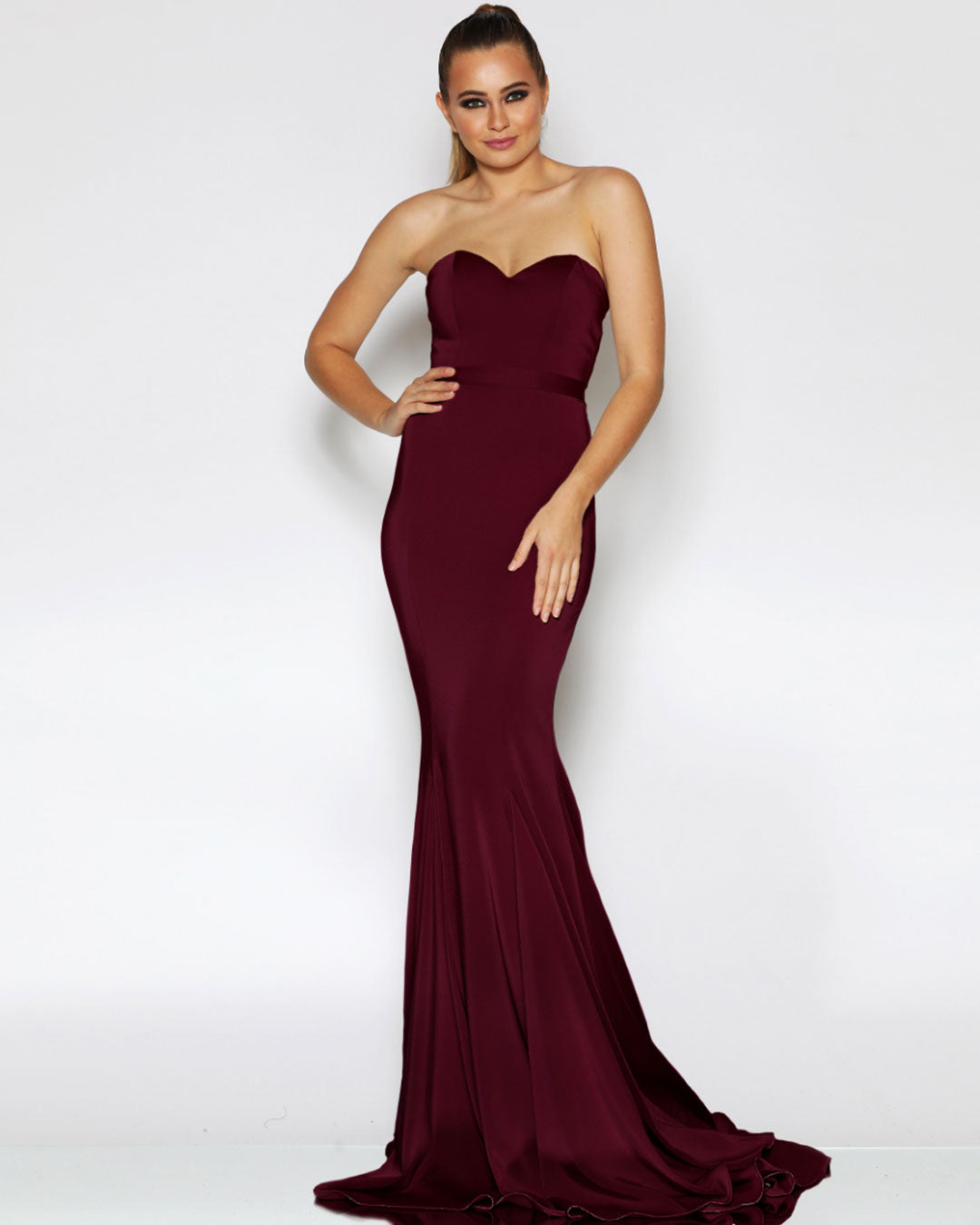 Ellie Formal Gown - Wine