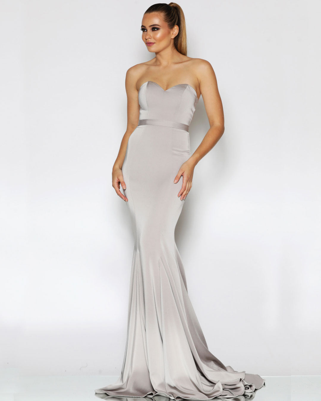 Ellie Formal Gown - Bone