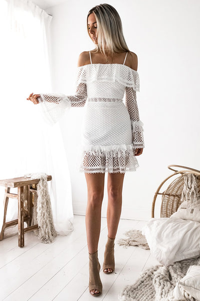 Gatsby Lace Dress - White