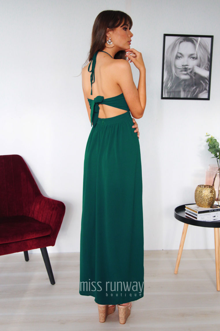 Gianna Maxi Dress - Green - Miss Runway Boutique
